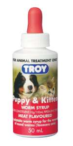 Troy Puppy and Kitten worm syrup 50ml