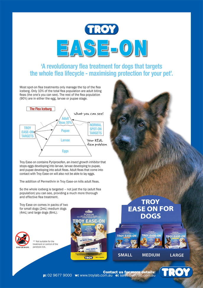 Troy Ease-On - Revolutionary Flea Treatment for Dogs!