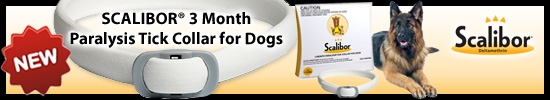 SCALIBOR® 3 Month Paralysis Tick Collar for Dogs